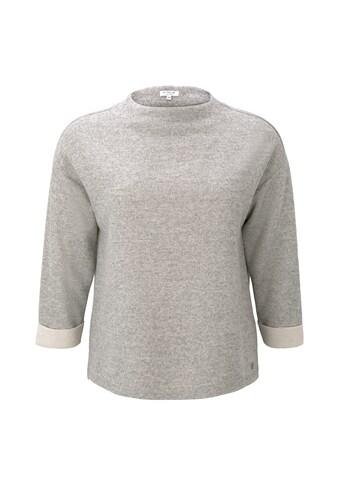 TOM TAILOR MY TRUE ME Fleecepullover »Meliertes Sweatshirt mit Stehkragen« kaufen