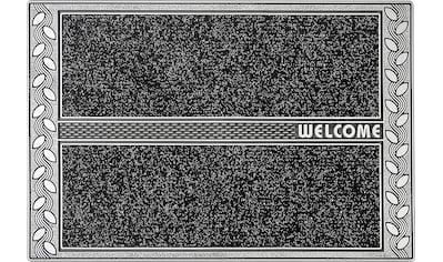 CarFashion Fußmatte »SE Clean Leaves«, rechteckig, 8 mm Höhe, Fussabstreifer, Fussabtreter, Schmutzfangläufer, Schmutzfangmatte, Schmutzfangteppich, Schmutzmatte, Türmatte, Türvorleger, mit Spruch kaufen
