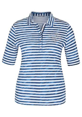 Rabe Kurzarmshirt, mit gestreiftem Muster und Strass-Steinen kaufen