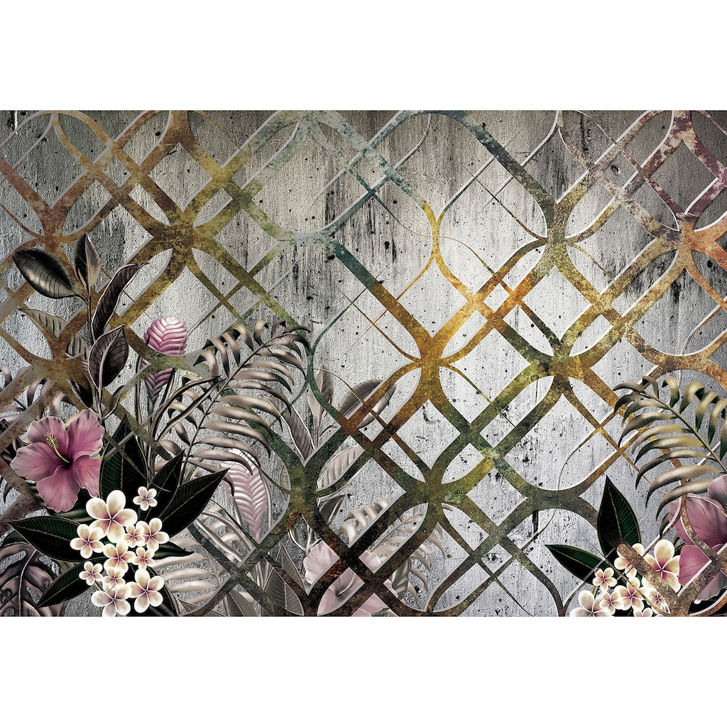 Consalnet Vliestapete »Goldenes Motiv/Blumen«, floral