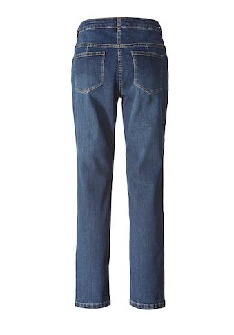Janet und Joyce by Happy Size Slim Fit Jeans knöchellang mit Stickerei kaufen