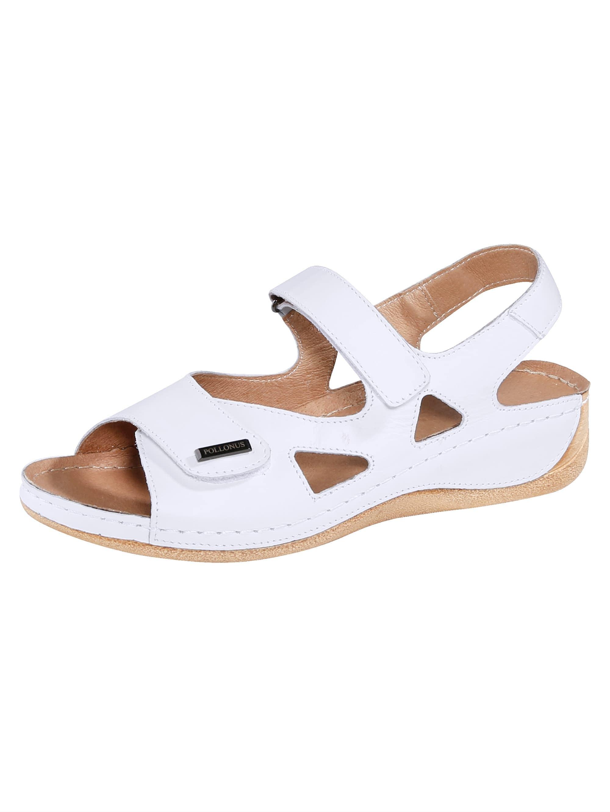 Naturläufer Sandale weiß Damen Sandaletten Sandalen Sandalen/