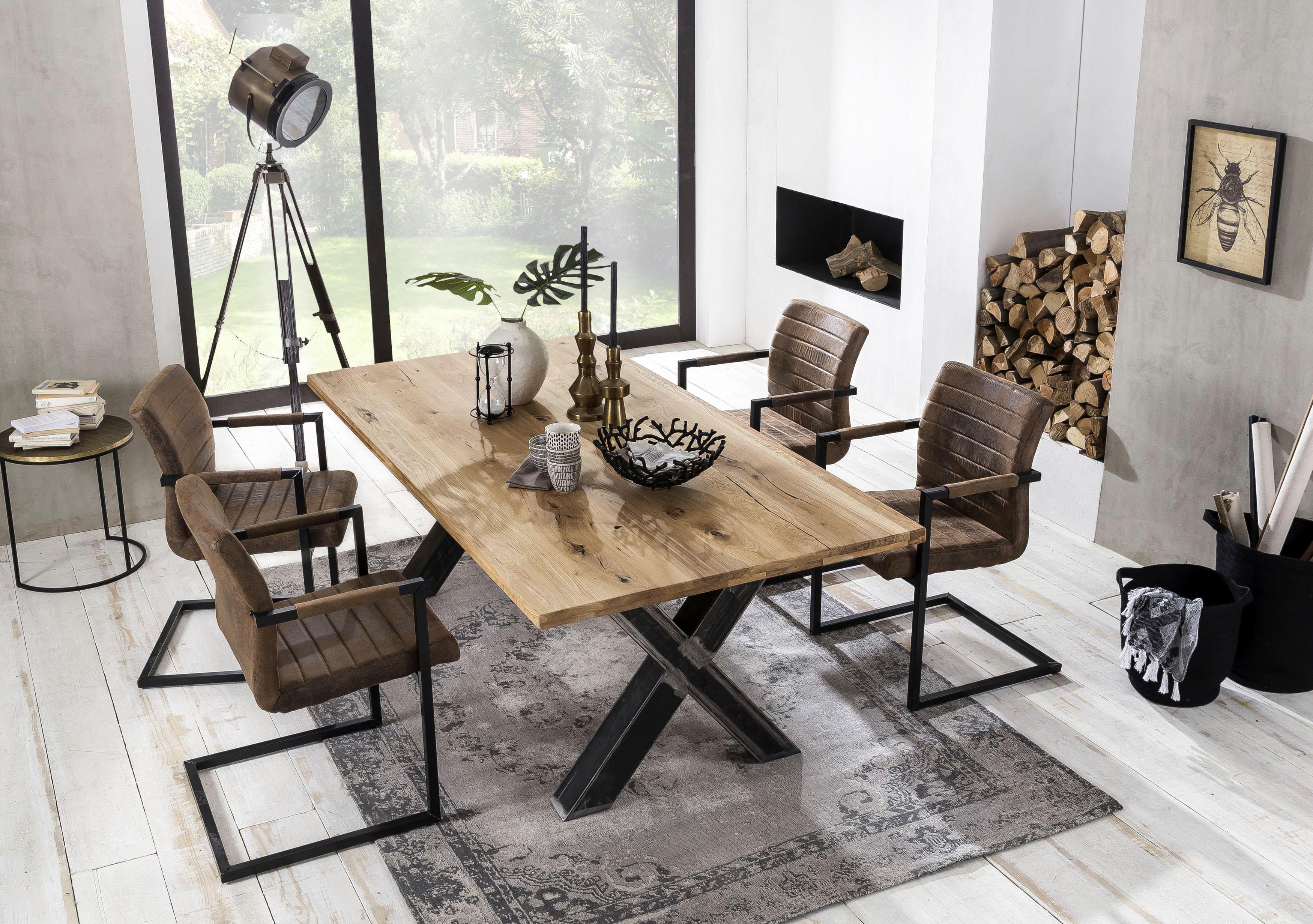 SIT Baumkantentisch Tables mit Platte aus Wildeiche natur