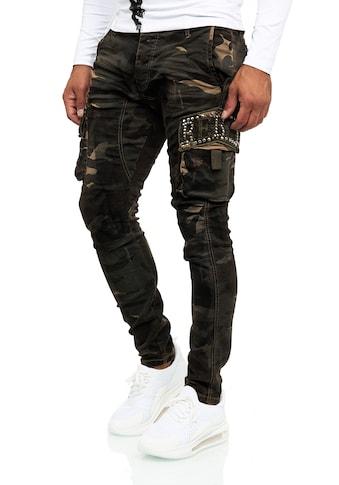KINGZ Slim-fit-Jeans, mit modischen Details kaufen