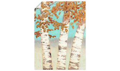 Artland Wandbild »Goldene Birken III«, Bäume, (1 St.), in vielen Größen & Produktarten... kaufen
