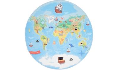 Kinderteppich, »Weltkarte«, Böing Carpet, rund, Höhe 4 mm, gedruckt kaufen