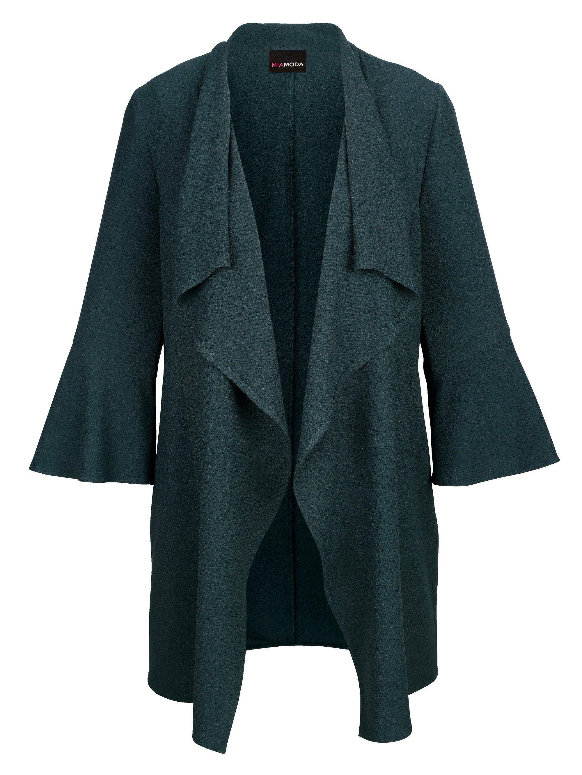 MIAMODA Blusenjacke mit weit fallendem Ausschnitt