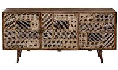 Home affaire Sideboard »Dogberry«, aus Rattan-Geflecht und massivem Mangoholz,... kaufen