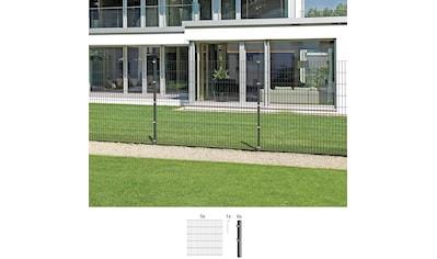 GAH ALBERTS Set: Doppelstabmattenzaun 160 cm hoch, 5 Matten für 10 m, 6 Pfosten kaufen