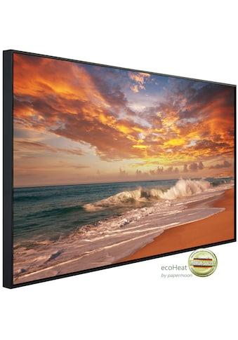 Papermoon Infrarotheizung »EcoHeat - Sonnenuntergang Strand«, Aluminium, 900 W, 74 x... kaufen