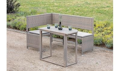 MERXX Gartenmöbelset »Balkon«, 2 - tlg., Eckbank, Tisch 50x90 cm, inkl. Sitzkissen kaufen