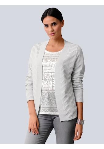 Alba Moda Strickjacke, mit effektvollem Zick-Zack Muster kaufen