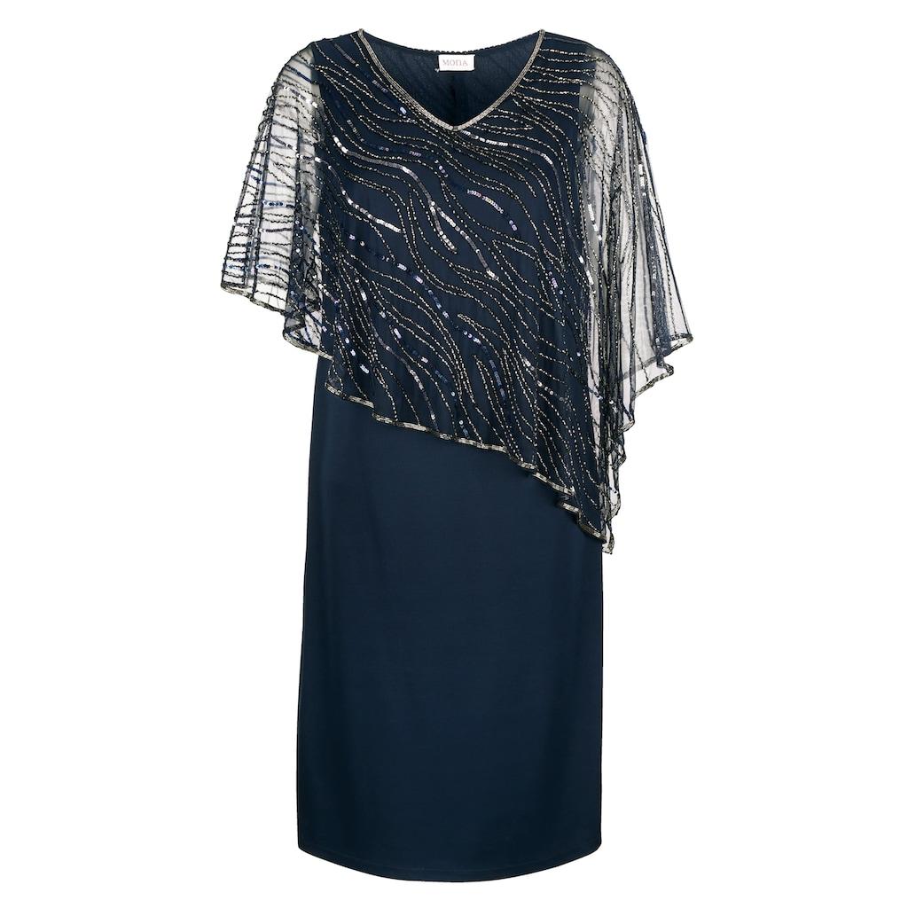 Mona Abendkleid, mit bestickten Überwurf