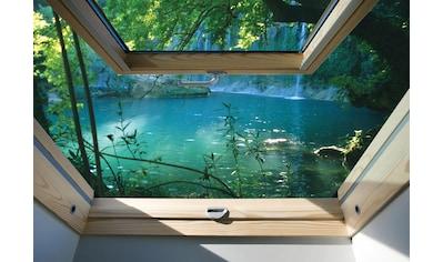 CONSALNET Fototapete »Fensterblick See«, Vlies, in verschiedenen Größen kaufen