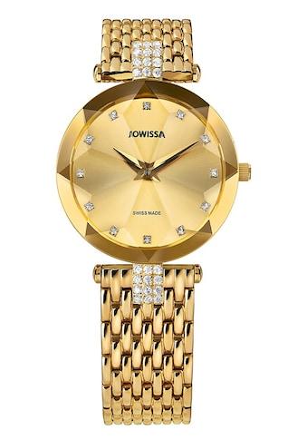 JOWISSA Quarzuhr »Facet Strass Swiss Ladies Watch« kaufen