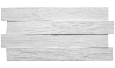 Decosa 3D Wandpaneel »Creativ Wood«, naturgetreue Steinoberfläche, weiß kaufen