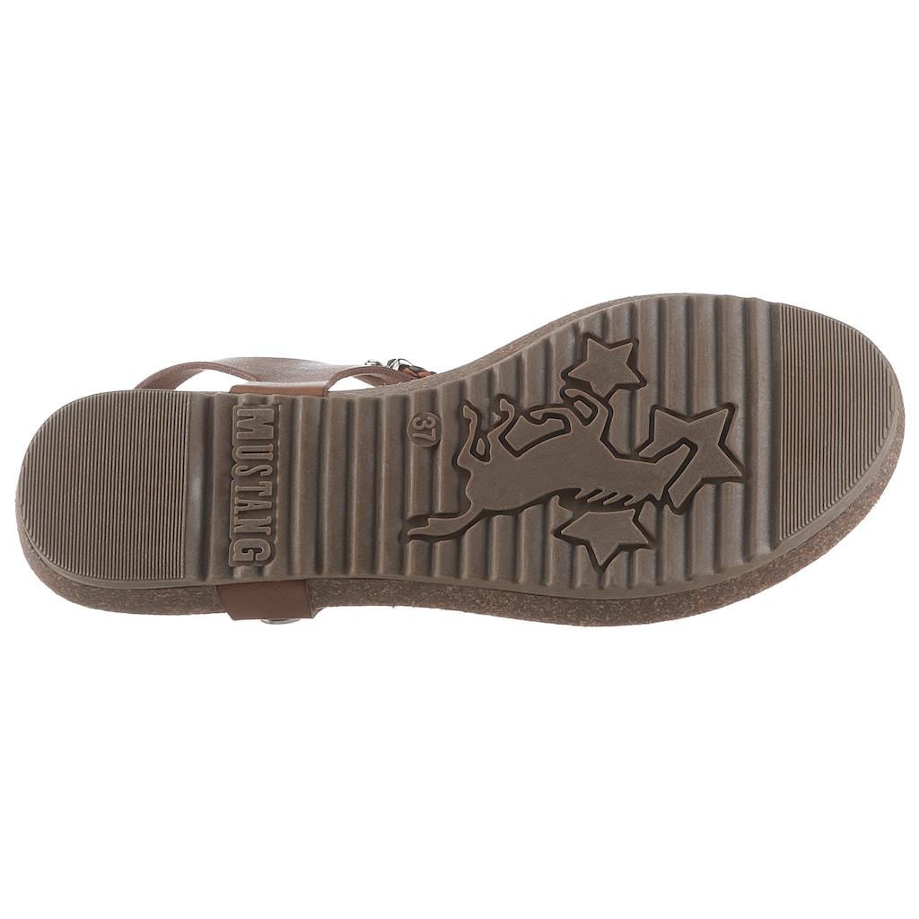 Mustang Shoes Sandale, mit Schmuckdetails