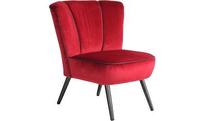 Max Winzer® Sessel »Enzo«, im Retrolook, mit Kunstleder-Ziernaht kaufen