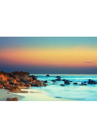 Papermoon Fototapete »Sonnenuntergang über dem Meer«, Vliestapete, hochwertiger... kaufen