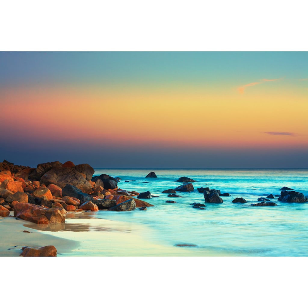 Papermoon Fototapete »Sonnenuntergang über dem Meer«, Vliestapete, hochwertiger Digitaldruck