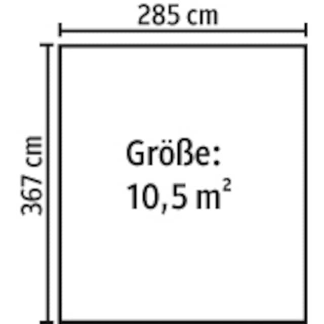 YARDMASTER Stahlgerätehaus »Brandenburg 1012«, BxTxH: 303x367x224 cm, mit Bodenrahmen