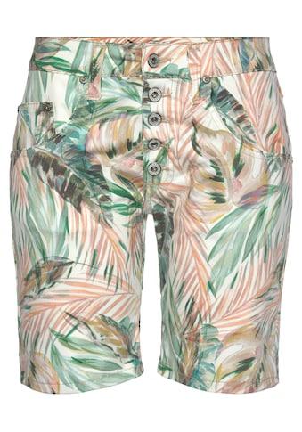 Please Jeans Jeansshorts »P 88A«, mit Dschungel Allover - Print kaufen