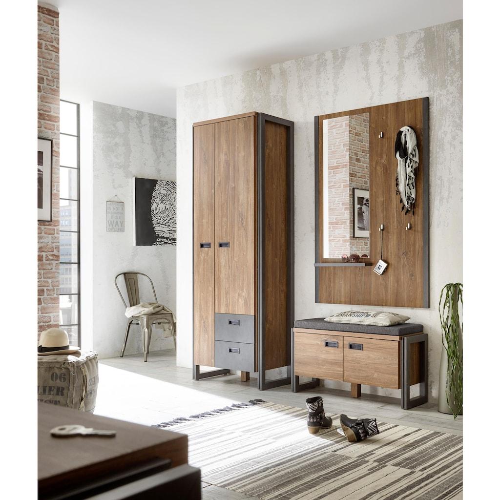 Home affaire Garderobenschrank »Detroit«, im angesagten Industrial Look
