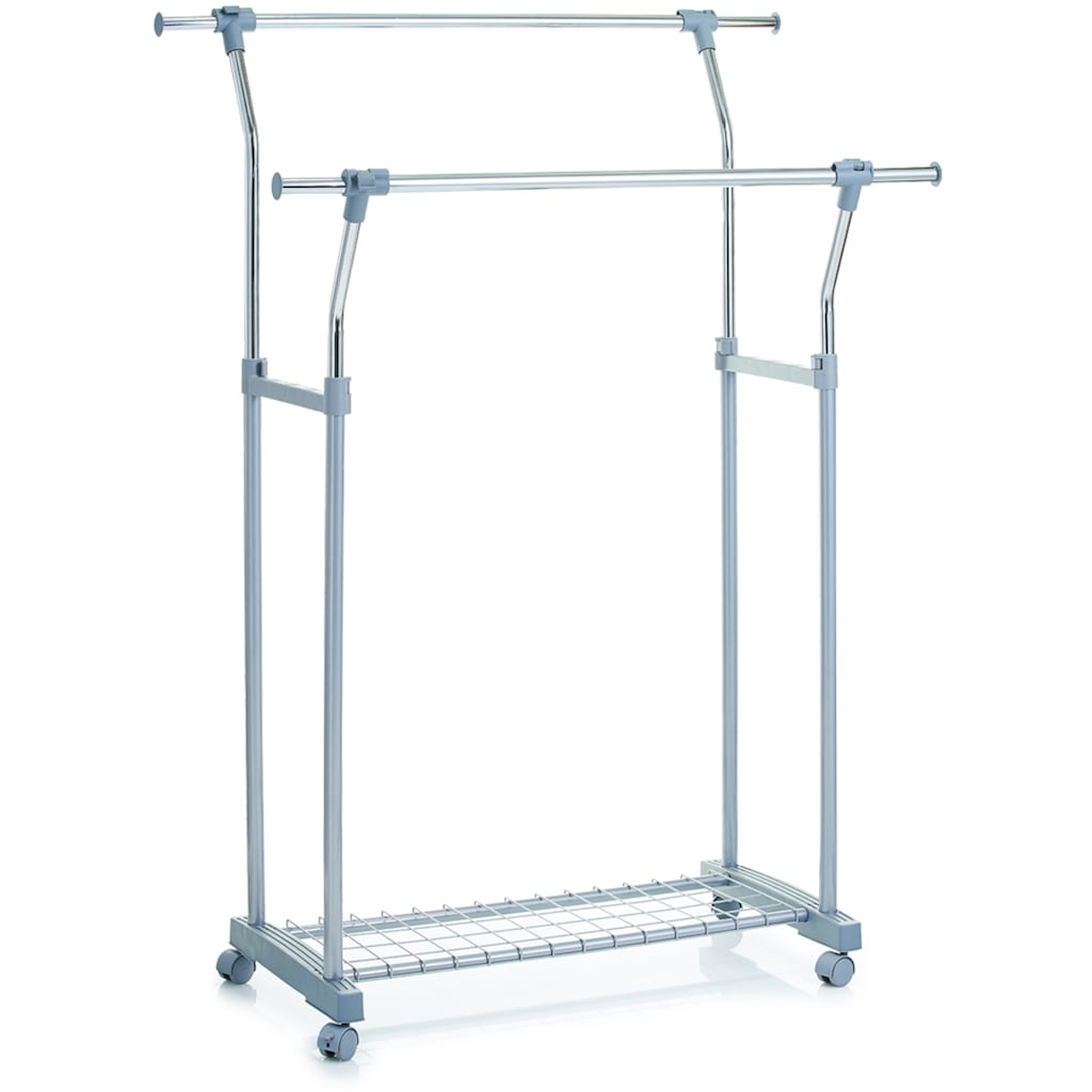 Zeller Present Kleiderständer, auf Rollen, höhenverstellbar 114-161 cm