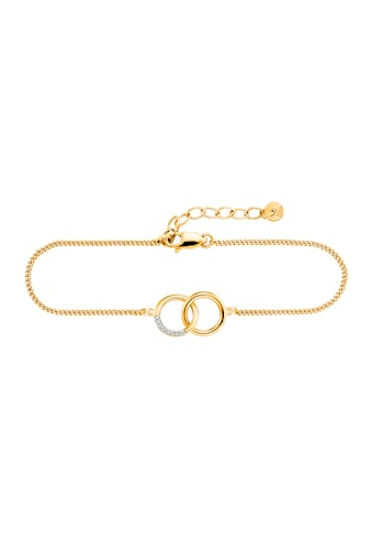 CAÏ Armband »925/- Sterling Silber gelb vergoldet Topas«, Rundpanzerkette kaufen