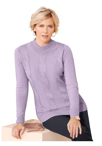 Classic Pullover mit aufwändiger Applikation aus Glitzersteinchen vorne kaufen