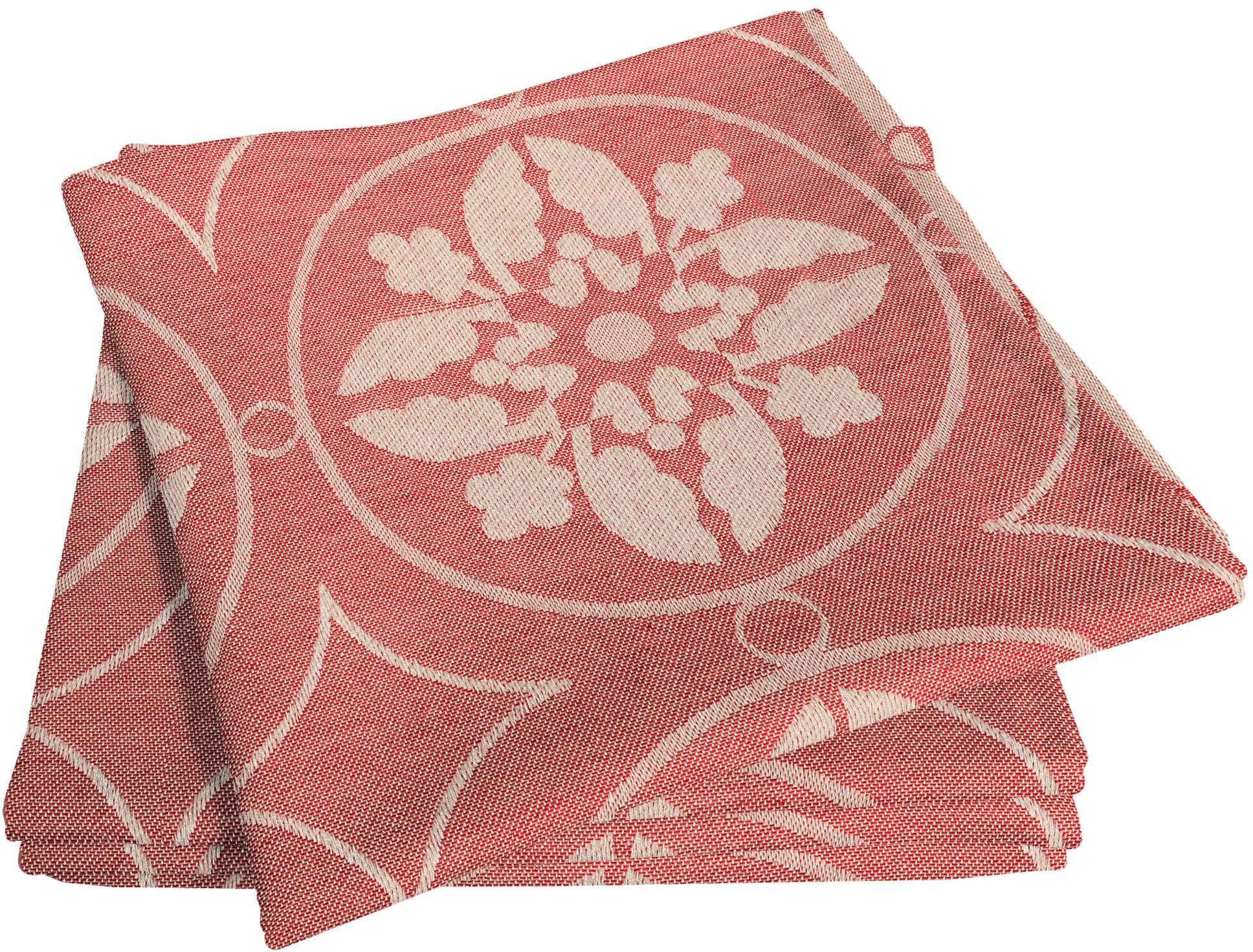 Adam Stoffserviette Romantic Puligny Light, (4 St.), nachhaltig, GOTS zertifiziert rot Stoffservietten Tischwäsche