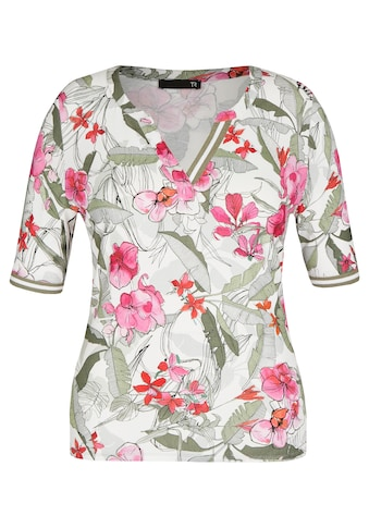 Thomas Rabe Kurzarmshirt, mit geblümtem Allover-Print und halblangen Ärmeln kaufen