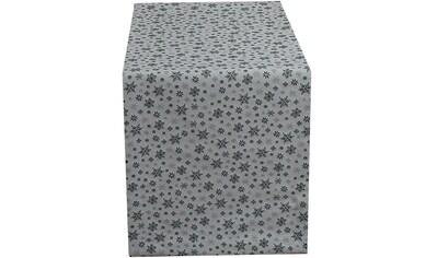 HOSSNER - HOMECOLLECTION Tischläufer »Galaxie«, (1 St.), mit Schneeflocken kaufen