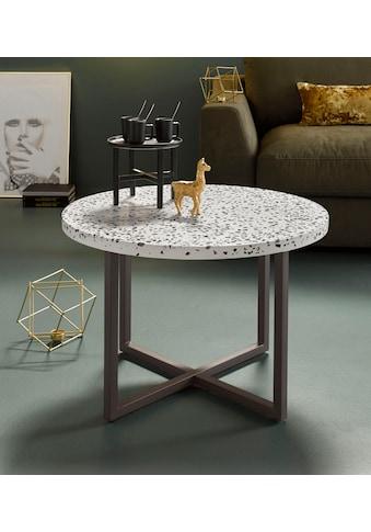 INOSIGN Beistelltisch »Steph«, mit schönem Metallgestell und edler Terrazzo-Tischplatte kaufen