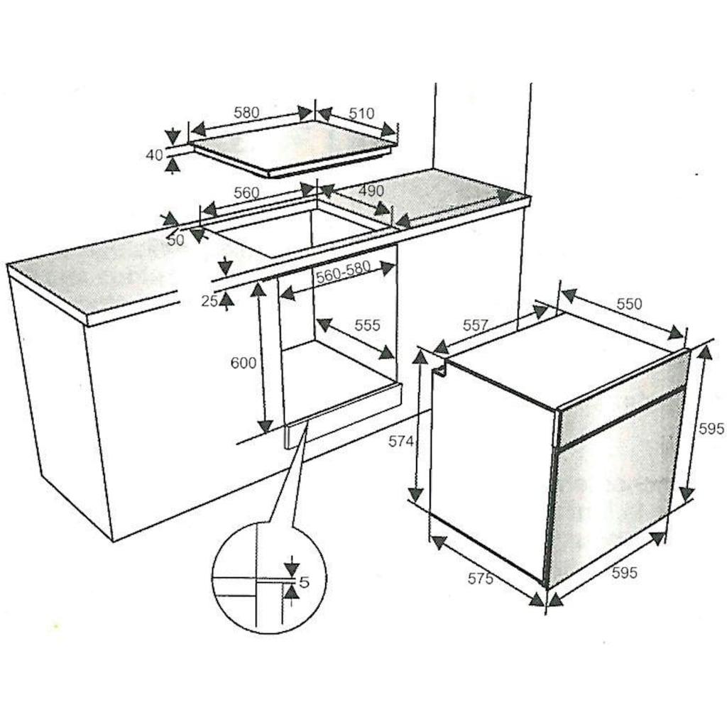 vonReiter Elektro-Herd-Set »VREHE 7510-6-Set«