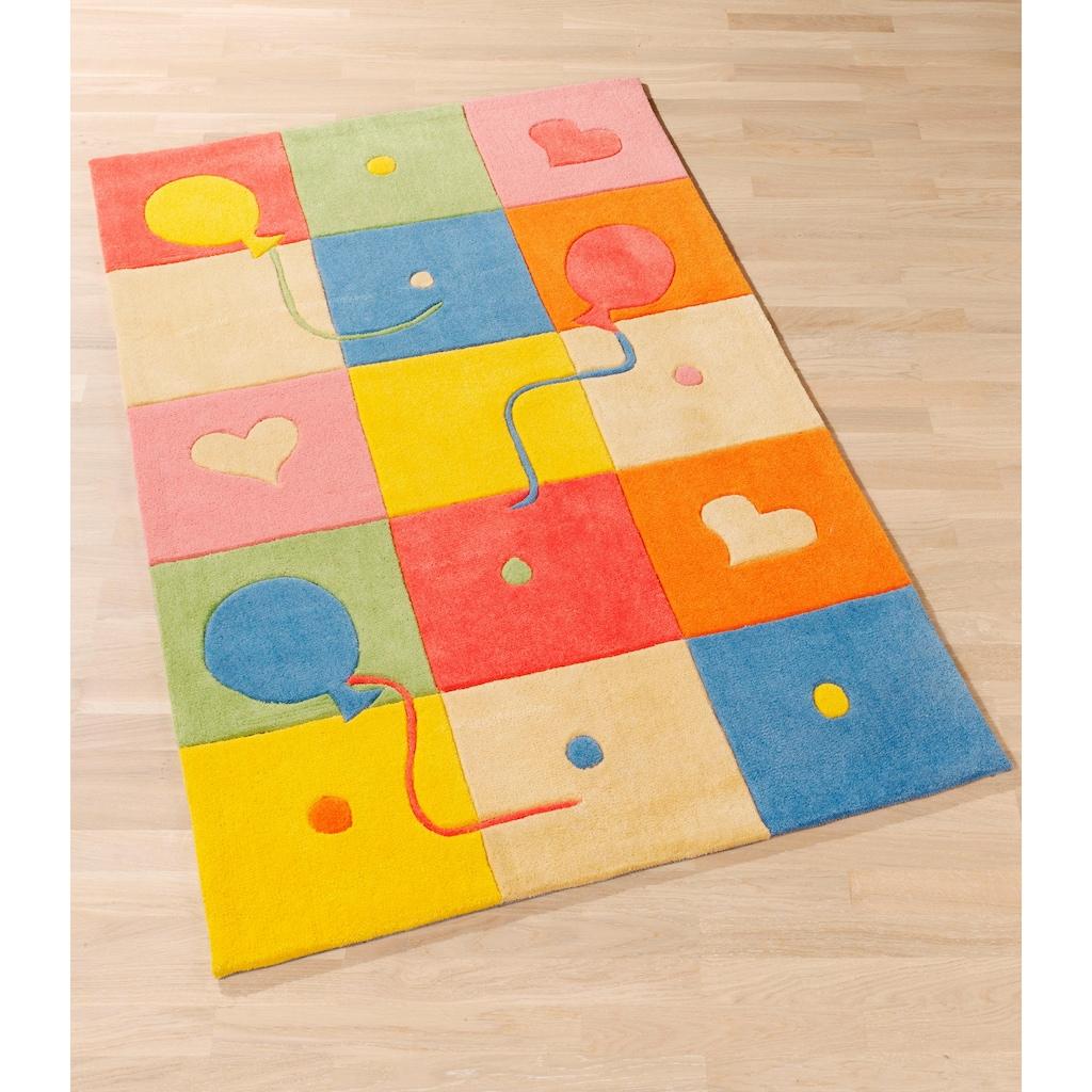 Böing Carpet Kinderteppich »Kids 1361«, rechteckig, 10 mm Höhe, Konturenschnitt