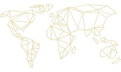 Wall-Art Wanddekoobjekt »3D Weltkarte Origami aus Holz - Pappel« kaufen