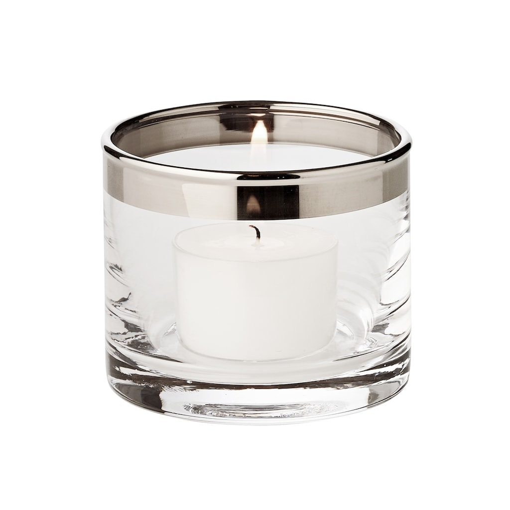 EDZARD Windlicht »Molly«, Kristallglas mit Platinrand