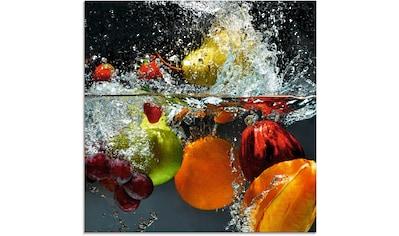 Artland Glasbild »Spritzendes Obst auf dem Wasser«, Lebensmittel, (1 St.) kaufen
