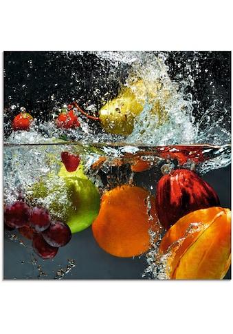 Artland Glasbild »Spritzendes Obst auf dem Wasser« kaufen
