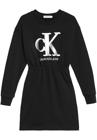 Calvin Klein Jeans Sweatkleid »MONOGRAM SWEATSHIRT DRESS«, mit Rundhalsausschnitt kaufen