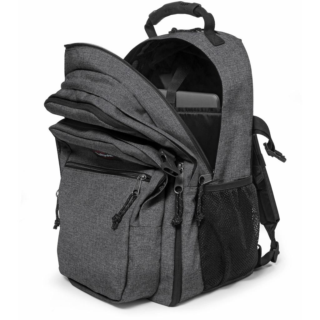 Eastpak Freizeitrucksack »TUTOR, Black Denim«, enthält recyceltes Material (Global Recycled Standard)