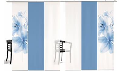 Schiebegardine, »Lilie Farbig«, emotion textiles, Klettband 6 Stück kaufen