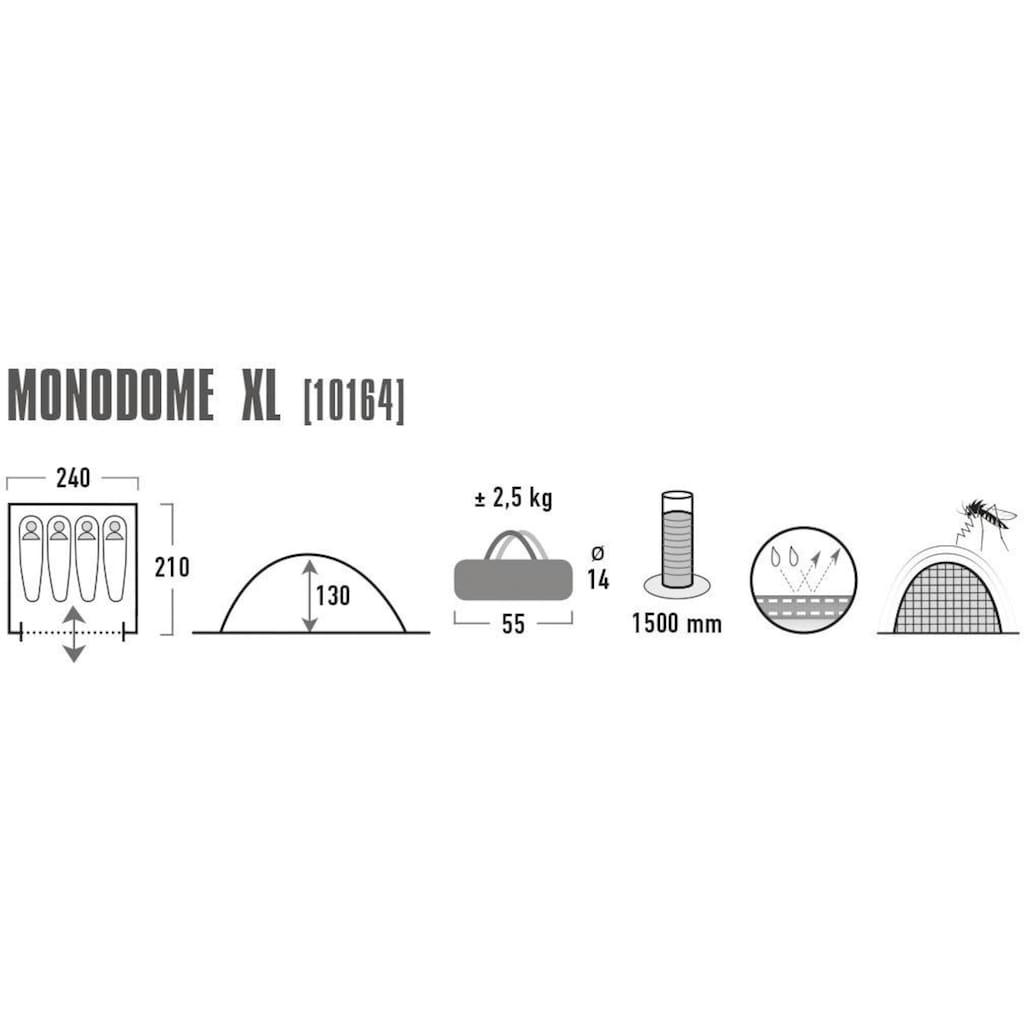 High Peak Kuppelzelt »Monodome XL«, 4 Personen, (mit Transporttasche)