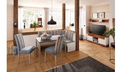 Home Affaire Eckbankgruppe »Denis«,Set Bestehend Aus Essbank, Tisch Und 2  Stühlen