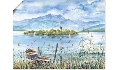 Artland Wandbild »Seeblick Herreninsel«, Gewässer, (1 St.), in vielen Größen &... kaufen