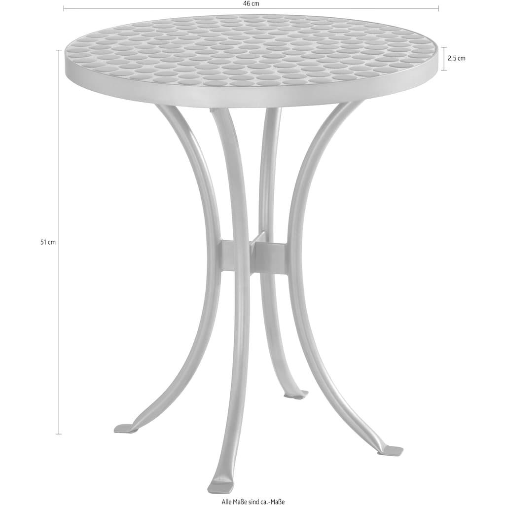 INOSIGN Beistelltisch »Steph«, mit schöner, weißer Mosaik-Keramikplatte und Metallgestell