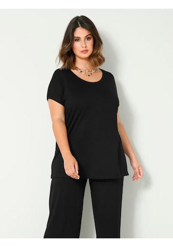 Sara Lindholm by HAPPYsize Rundhalsshirt, lässig geschnitten kaufen