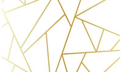 CONSALNET Vliestapete »Geom. Figuren/Gold«, in verschiedenen Größen kaufen