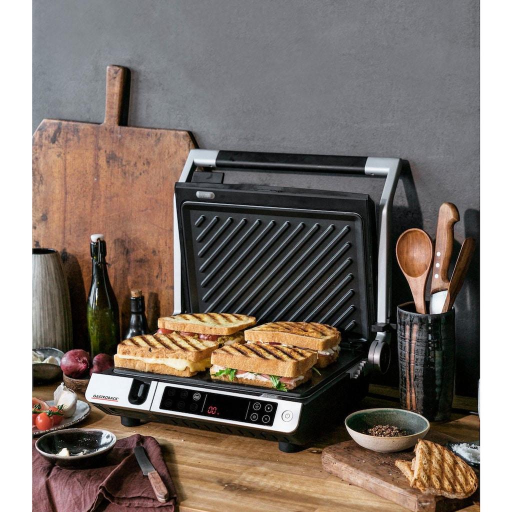 Gastroback Kontaktgrill »42539 Design BBQ Advanced Control«, 2000 W